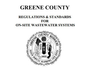 septic system requirements greene county