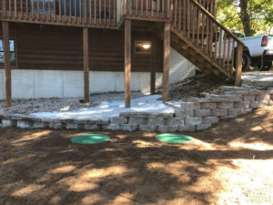 after completion of metal septic tank replacement table rock lake 1-2-2017