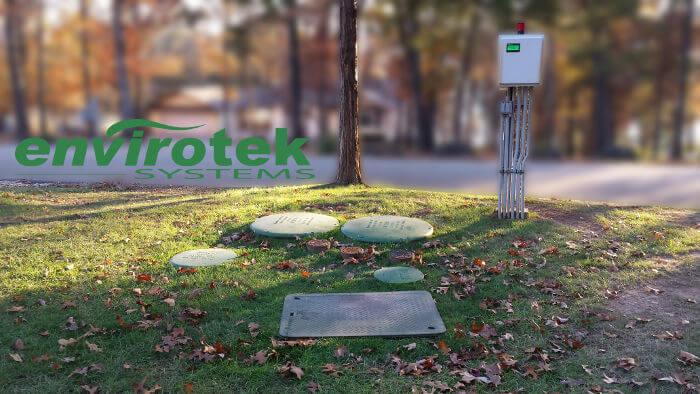 envirotek systems visi-pump system installation septic repair table rock lake