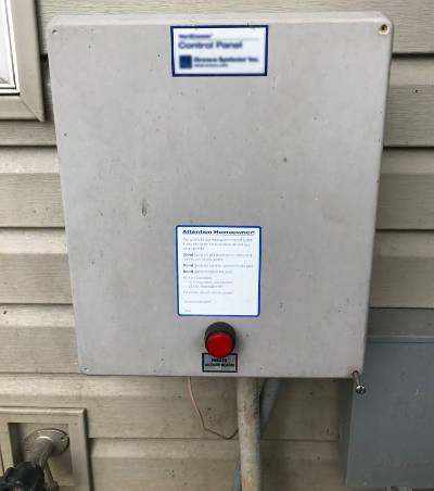 standard grinder pump control panel