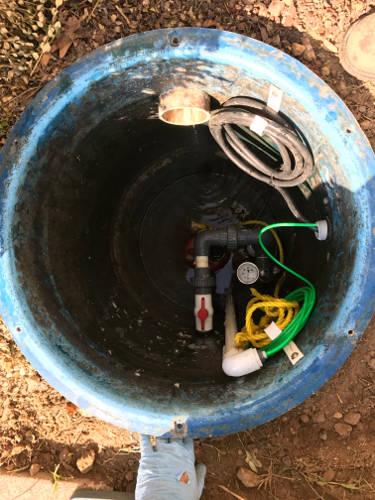 new grinder pump installation 9-29-17